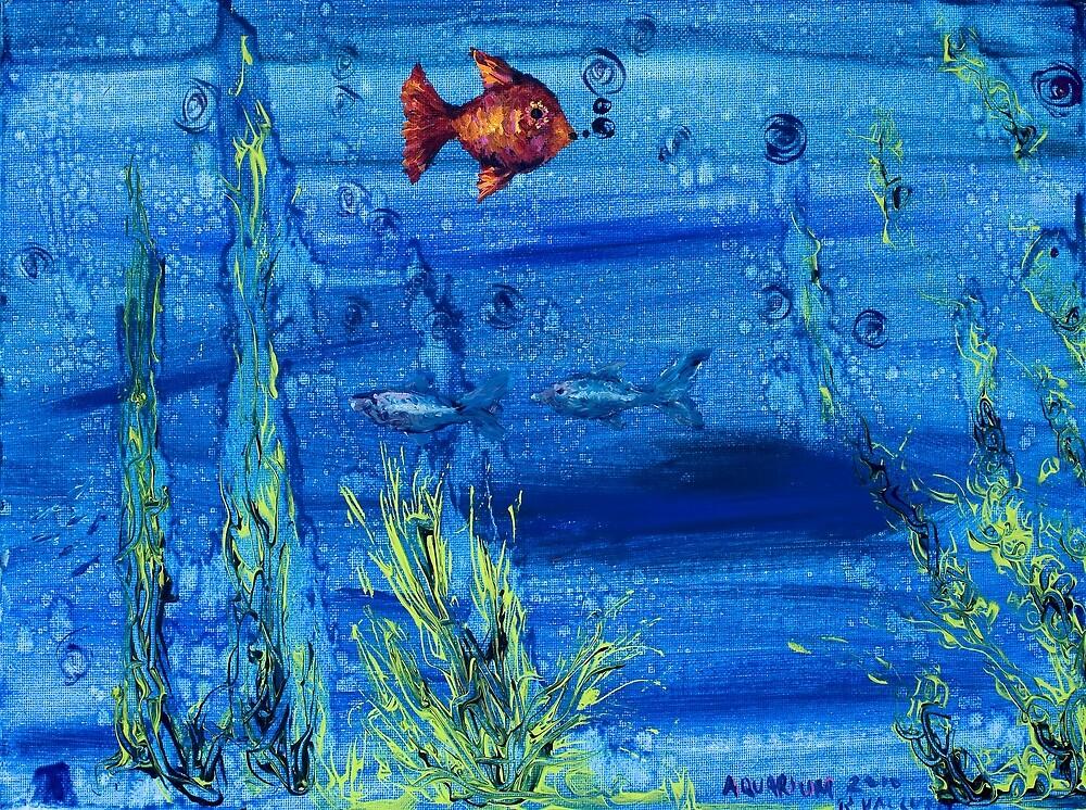 Red fish blue fish by Regina Valluzzi