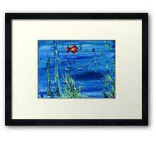 Red fish blue fish Framed Print
