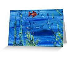 Red fish blue fish Greeting Card