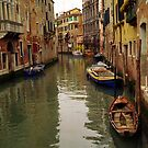 Venice Canel Boats by Larry3