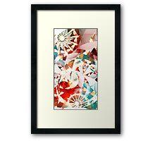 Abstract Fractal, Luna Park, White Framed Print