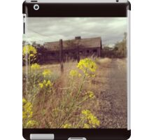 Gray Skies Over a Weathered Barn  iPad Case/Skin