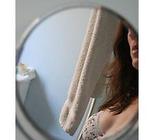 Bathroom Mirror Photographic Print