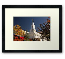 Bountiful LDS Temple Framed Print