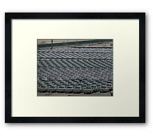 Pattern of New Vehicles Awaiting delivery in Dubai Framed Print