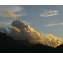 Clouds Over Seychelles Photographic Print