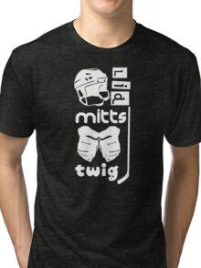 Hockey Slang, Lid, Mitts, Twig Tri-blend T-Shirt