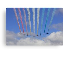 Red Arrows Fly Past Canvas Print