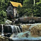 The Glade Creek Grist Mill  by Terence Russell