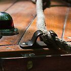 Bow Cleat - Antique Boat by David Clayton