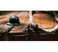 Bow Cleat - Antique Boat Photographic Print