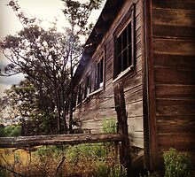 Distressed Barn with Barbwire Windows by JULIENICOLEWEBB