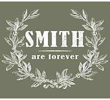 SURNAME - SMITH on BLACK Photographic Print