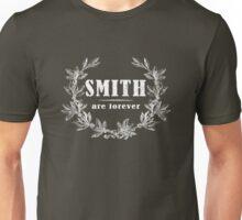 SURNAME - SMITH on BLACK Unisex T-Shirt