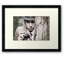 The Intense Photographer Framed Print