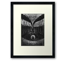 Seeing Through Time - Charcoal Drawing Framed Print