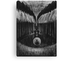 Seeing Through Time - Charcoal Drawing Canvas Print