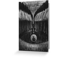 Seeing Through Time - Charcoal Drawing Greeting Card