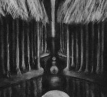 Seeing Through Time - Charcoal Drawing Sticker
