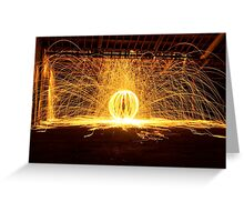 Light Painting #3 Greeting Card