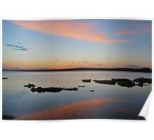Tuggerah Lake 22-10-10 ( sunset ) Poster