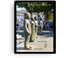 Four South African Nobel Peace Prize Winners Canvas Print