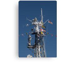 Radio Mast of HMS Belfast Canvas Print
