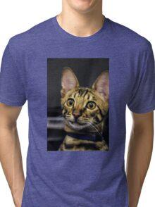 Plane Passenger Portrait Tri-blend T-Shirt