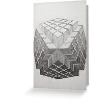 Cube Explosion Greeting Card