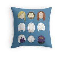 Defiance Minimalistic Character Set  Throw Pillow