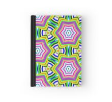 Pattern 508 - Green, Yellow, Pink, and Black Hardcover Journal