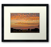 Sunset on the Farm Framed Print