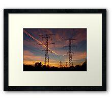 Pylons & Contrails Framed Print