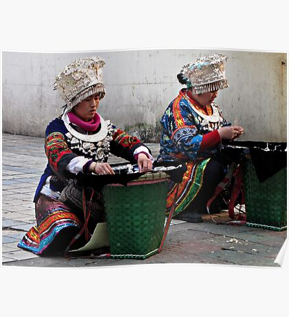 Street Traders, Tunxi, Anhui, China Poster