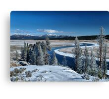 The serenity of Winter Canvas Print