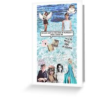 Taylor Swift Collage - Blue ♡ Greeting Card