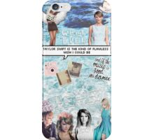 Taylor Swift Collage - Blue ♡ iPhone Case/Skin
