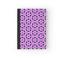 Pattern 511 - Purple and Black Floral Hardcover Journal