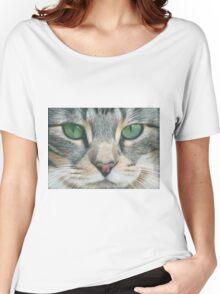 Emerald Eyes Scratch Art Women's Relaxed Fit T-Shirt