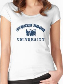 STONER DOOM - BLUE Women's Fitted Scoop T-Shirt