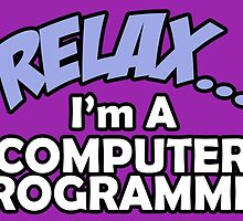 RELAX I'M A COMPUTER PROGRAMMER by birthdaytees