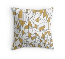MCM Autumn Leaves Gold Throw Pillow