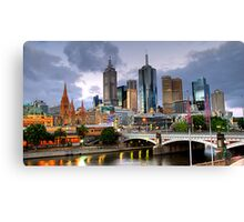 Melbourne @ Dusk Canvas Print