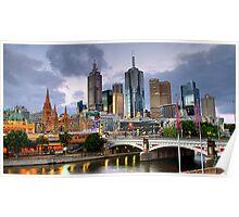 Melbourne @ Dusk Poster