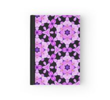 Pattern 512 - Purple and Black Floral Hardcover Journal