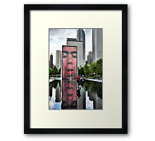 As if he walked on water... Framed Print