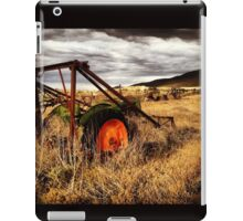 Abandoned Tractor in Fields of Gold, Waiting for the Storm iPad Case/Skin
