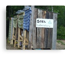 Soil Laboratory (Compost Toilet Outhouse) Canvas Print