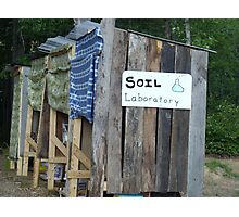 Soil Laboratory (Compost Toilet Outhouse) Photographic Print