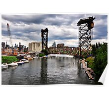 Canal Street Railroad Bridge Poster